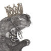 crying otter in a glittering gold crown